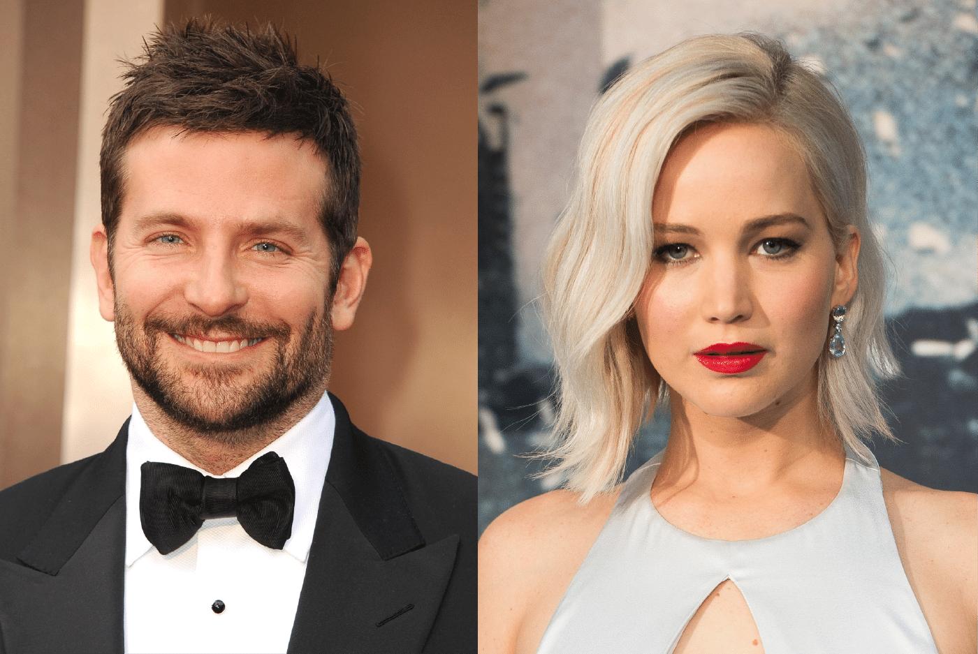 Bradley Cooper e Jennifer Lawrence, atores que interpretaram Pat e Tiffany no longa O lado bom da vida (2013), do diretor David O. Russell