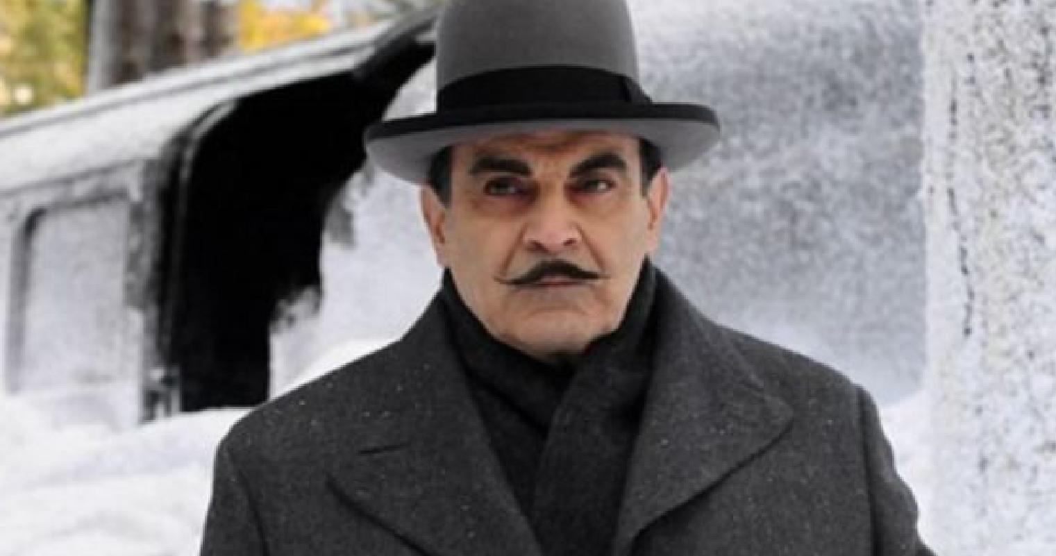 """David Suchet como Hercule Poirot na série de televisão britânica """"Agatha Christie's Poirot"""""""