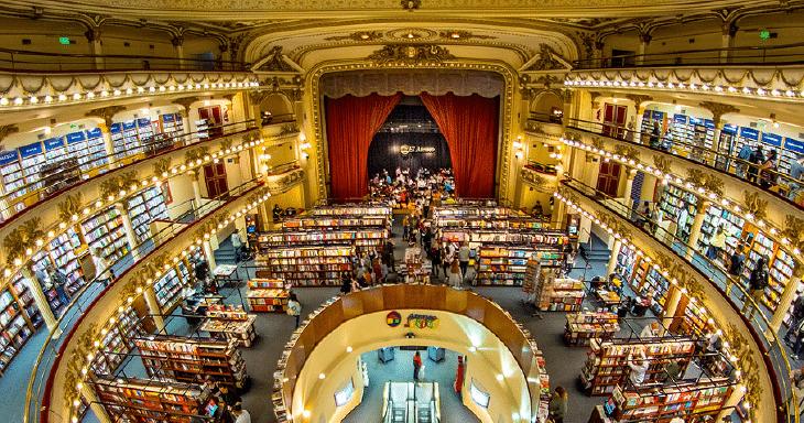 Livraria El Ateneo, em Buenos Aires | Foto: Divulgação